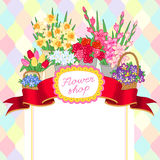 Flower shop background Royalty Free Stock Images