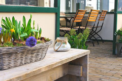 Flower shop and cafe in Gorinchem. Royalty Free Stock Photos