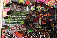 Flower shop  colors Stock Photos