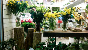Flower shop display Royalty Free Stock Photography