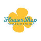 Flower Shop Floral Gift Spa Salon Logo. This logo can be used for any flower shop, gift shop, spa, or salon business Stock Photos