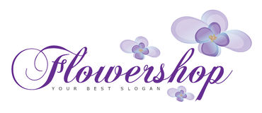 Flower shop or Flowers Logo Concept Stock Photo