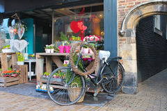 Flower shop in Gorinchem. Royalty Free Stock Photography