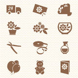 Flower shop iсons. Icons for a flower shop Royalty Free Stock Photo
