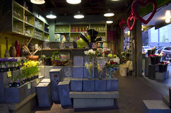 Flower shop interior lighting Royalty Free Stock Image