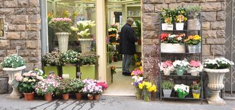 Flower shop in Italy Royalty Free Stock Photos