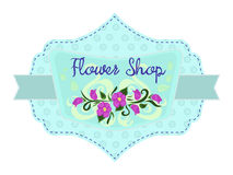 Flower shop label Stock Photography