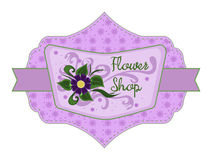 Flower shop label Royalty Free Stock Photography
