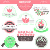 Flower shop logos Stock Photography