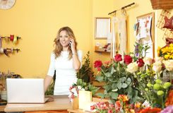 Flower shop owner portrait Royalty Free Stock Images