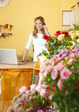 Flower shop owner portrait Royalty Free Stock Photo