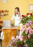 Flower shop owner portrait Stock Image