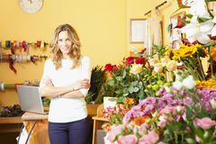 Flower shop owner Royalty Free Stock Photography