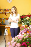 Flower shop owner Stock Photos
