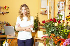Flower shop owner Stock Image
