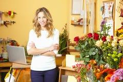 Flower shop owner Stock Image