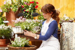 Flower shop owner Stock Photography