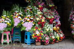 Flower shop in pak klong talad, Bangkok Stock Images