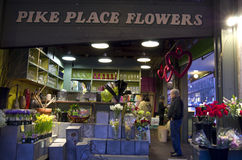 Flower shop pike place market Royalty Free Stock Images
