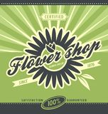 Flower shop retro poster layout Stock Photo