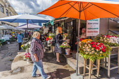 Flower shop at Riga Central Market Royalty Free Stock Photos
