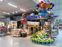 Flower shop at Schiphol Amsterdam Airport, Holland Royalty Free Stock Photography