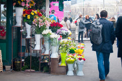 Flower shop on the street Royalty Free Stock Photo