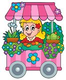 Flower shop theme image 1 Stock Image