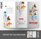 Flower shop Tri-Fold Brochure vector illustration