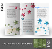 Flower shop Tri-Fold  Brochure Royalty Free Stock Images