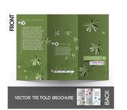 Flower shop Tri-Fold  Brochure Royalty Free Stock Image