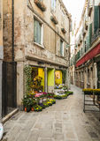 Flower Shop in Venice Royalty Free Stock Images