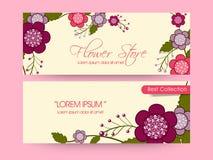 Flower Shop web header or banner set. Royalty Free Stock Image