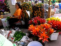 Flower Shops in Market Market in Bonifacio Global City Royalty Free Stock Photography