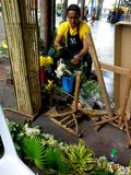 Flower Shops in Market Market in Bonifacio Global City Stock Photos
