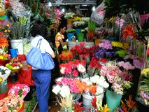 Flower Shops in Market Market in Bonifacio Global City Stock Photography