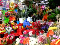 Flower Shops in Market Market in Bonifacio Global City Royalty Free Stock Image