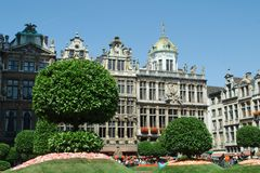 Flower show at the Grand Place in Brussels Royalty Free Stock Photos