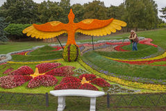 Flower Show Landscape Park in Kiev Stock Photography