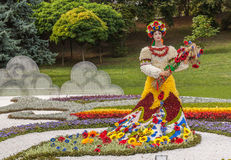 Flower Show Landscape Park in Kiev Royalty Free Stock Photography