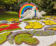 Flower Show Landscape Park in Kiev Royalty Free Stock Images