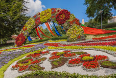 Flower Show Landscape Park in Kiev Royalty Free Stock Image