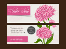 Flower show web header or banner design. Stock Photography