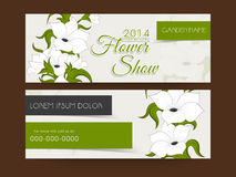 Flower show web header or banner design. Royalty Free Stock Photography