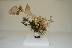 Flower showcase. Decoration Flower art Showcase in vase Royalty Free Stock Photo
