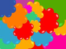 Flower shower. Colourful flowershower Stock Photos