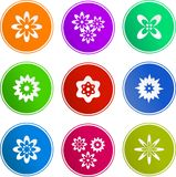 Flower sign icons Stock Photos