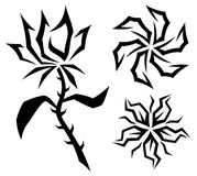 Flower signs. Royalty Free Stock Photography