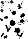 Flower Silhouette. Beautiful illustration of flower silhouette Stock Photography