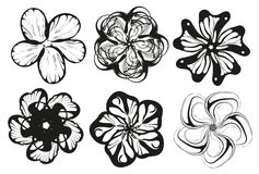 Flower silhouette  Stock Photos